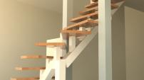 Mittbalk ståltrappor och ek