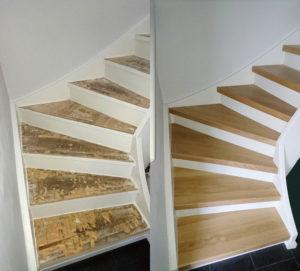 Imponerande trapparenovering inomhus före och efter | Trappspecialisterna