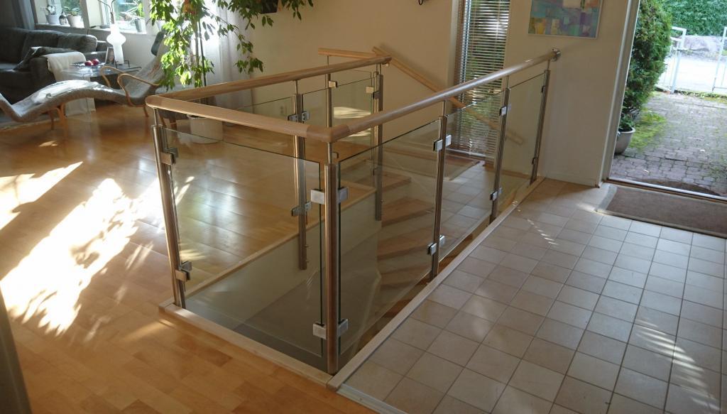 Bygg Glas Ledstång Trappa | | Trappspecialisterna