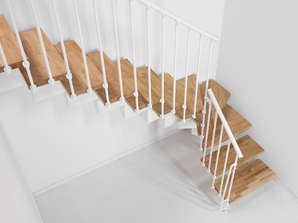 Designa dina Fontanot trappa i L-form för att förbättra premium look | Trappspecialisterna
