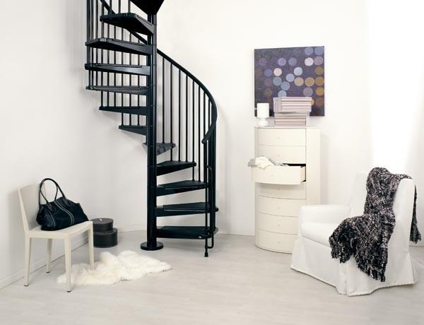 elegant tjära svart spiral trappa som gör ditt hem vackert | Trappspecialisterna
