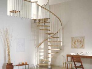 Designa din spiraltrappa med vita Bannister räcken | Trappspecialisterna
