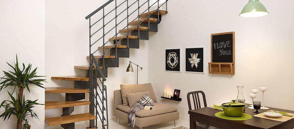 L-formad trappa kit för lägenhet   Trappspecialisterna